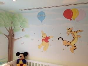 Disney style murals - Winnie the Pooh